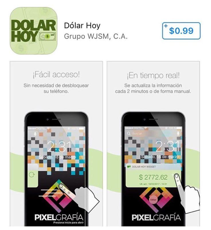 Deseas conocer el costo del dólar con respecto al Bolivar en tu celular de forma directa y sin publicidad? Sigue a @dolarhoywidget descarga el widget a tu celular iOS/Android disponible en Google Play y AppStore #dolar #bolivar #venezuela #curso #dolarhoy