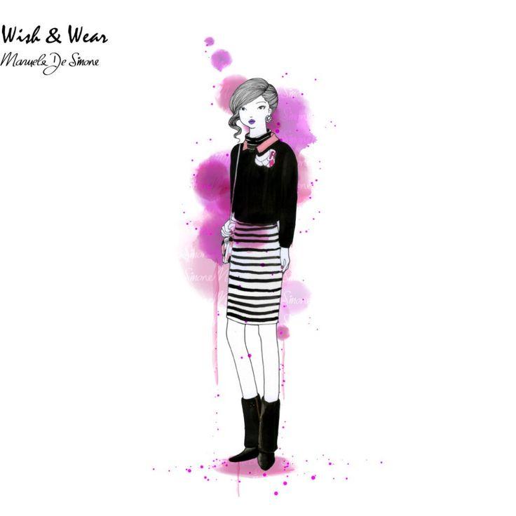 WISH & WEAR #50: Fendi Double Crepe Jacket with a Striped Turtleneck Dress