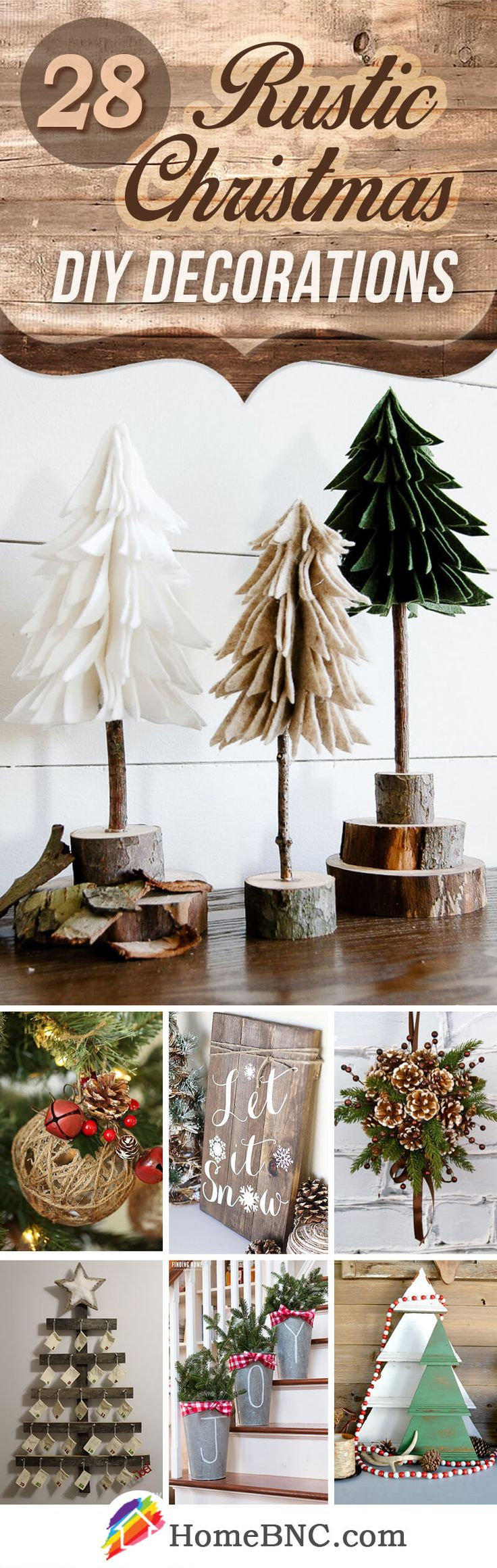 Rustic DIY Christmas Home Decor Ideas