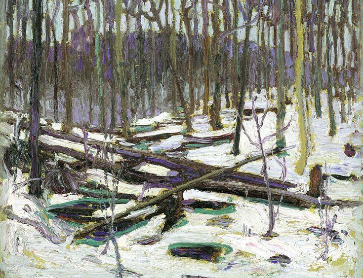om Thomson Catalogue Raisonné | Winter, Algonquin Park, Spring 1916