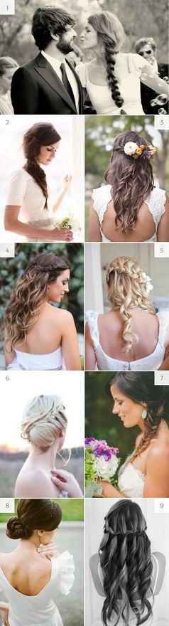 I like numbers 3 and 4 with tiny flowers (baby's breath) in the braid :-)