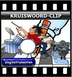 Kruiswoordclip Slaginstrumenten :: kruiswoordclip-slaginstrumenten.yurls.net  met werkblad, antwoorden én filmpjes