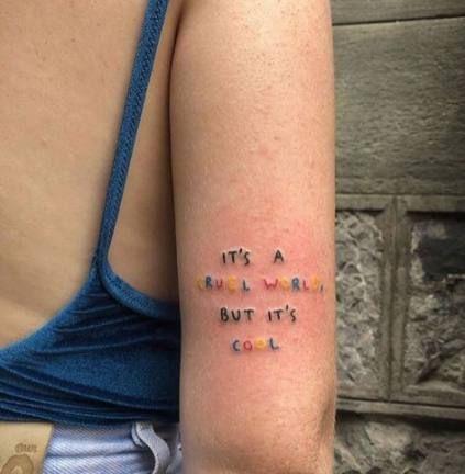 Tattoo small neck fonts 34 New ideas #tattoo