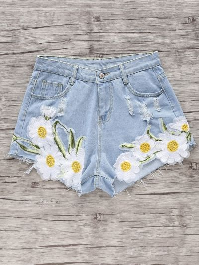 SHARE & Get it FREE | Embroidered Daisy Denim ShortsFor Fashion Lovers only:80,000+ Items • New Arrivals Daily Join Zaful: Get YOUR $50 NOW!