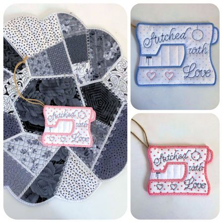 Free Sewing Machine Gift Tag | Embroidery designs | Machine