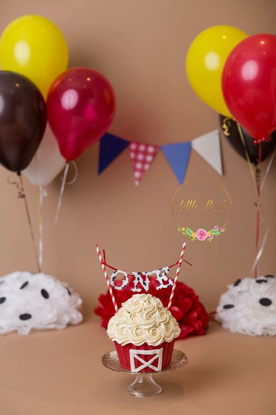 Barnyard Smash Cake Topper by PerfectlyPaperBanner on Etsy