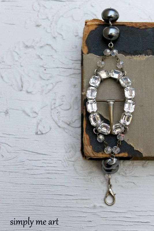 Vintage Rhinestone Buckle Glass Pearl and Rosary by simplymeart, $78.00