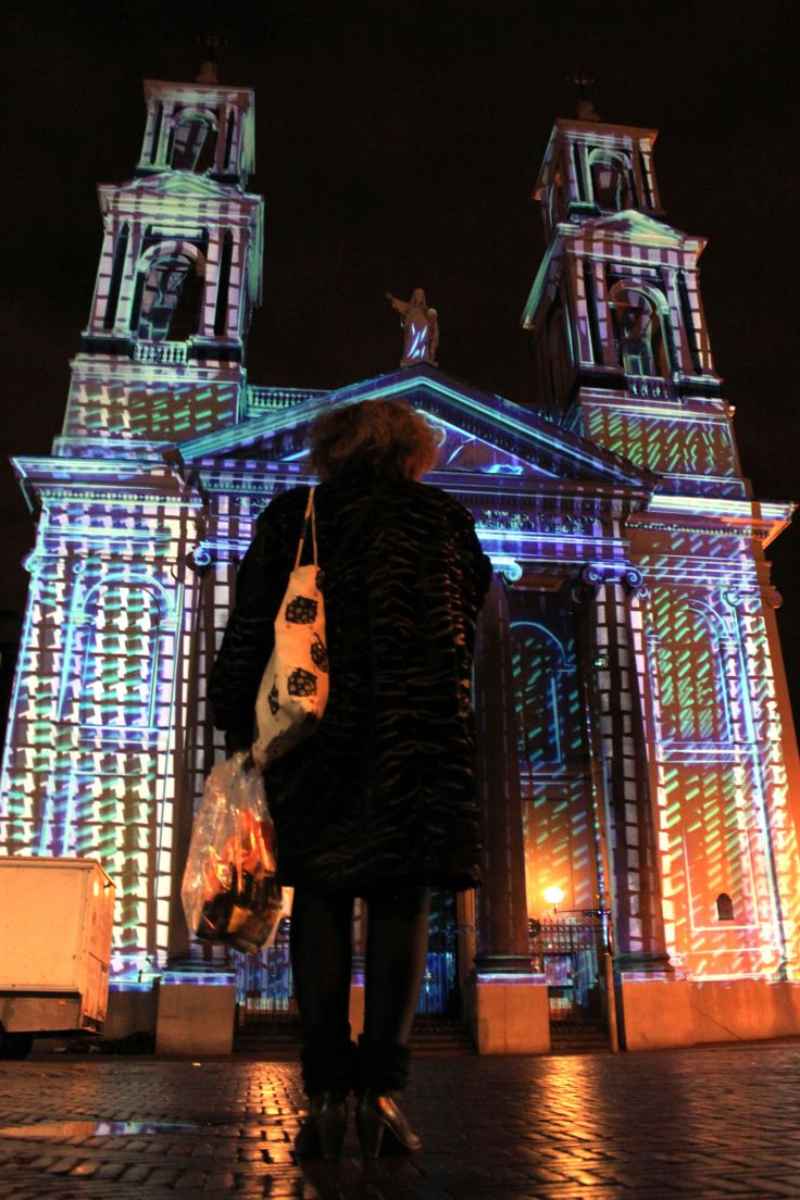 #videomapping Mozes en Aäronkerk church. Amsterdam Light Festival 2014.