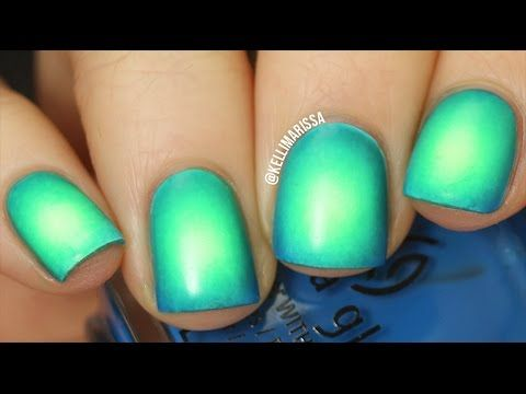 HOW TO DO RADIAL GRADIENT NAIL ART(Circular Gradient!!) || KELLI MARISSA - YouTube