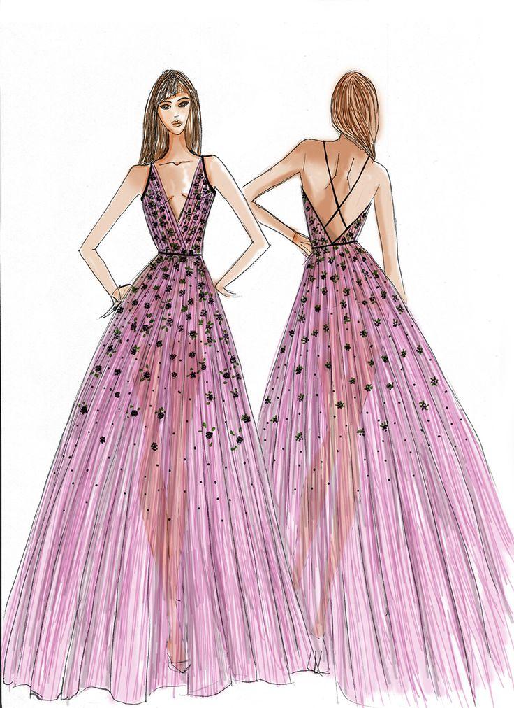drawings by Magdalena Popiel #fashionillustration #dress