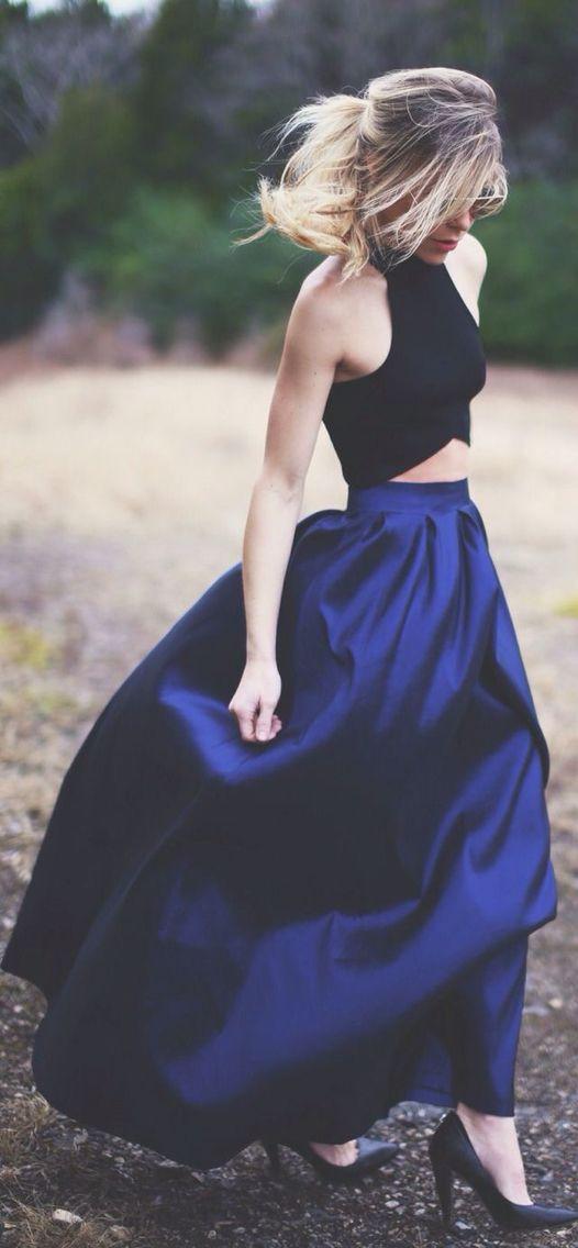 Two piece dress.