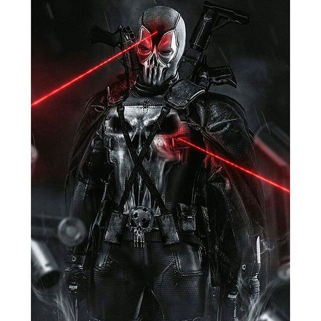 #Deadpool #Fan #Art. (Deadpool/Punisher) By: BossLogic. (THE * 5 * STÅR * ÅWARD * OF: * AW YEAH, IT'S MAJOR ÅWESOMENESS!!!™)[THANK Ü 4 PINNING!!!<·><]<©>ÅÅÅ+(OB4E)