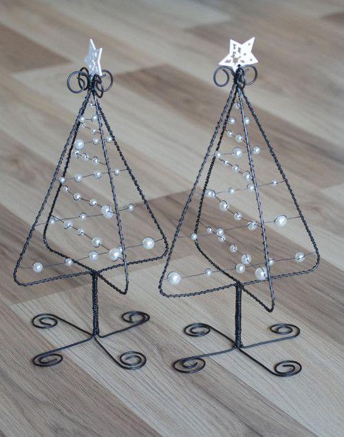 Stromečky vánoční 3D - bílé