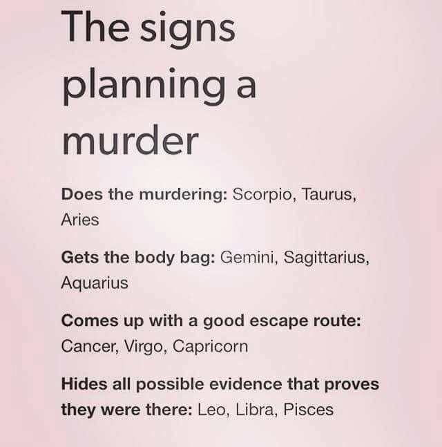 I dunno, I'd sure be the one to murder