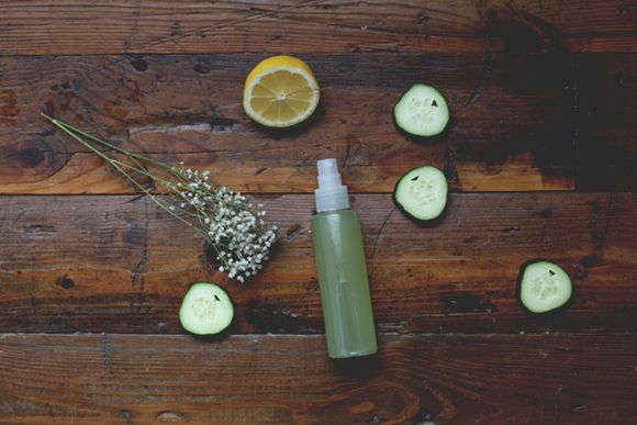 Homemade Refreshing Cucumber Aloe Mist for Face and Body