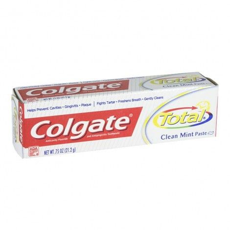 Colgate Total Clean Mint Toothpaste, 0.75 oz.
