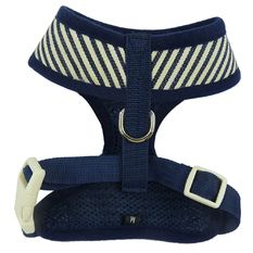 New anjing, orang anjing Harness Soft Mesh timangan kesayangan Kucing Kucing Vest Adjustable XS - XL Red Navy Blue Stripes