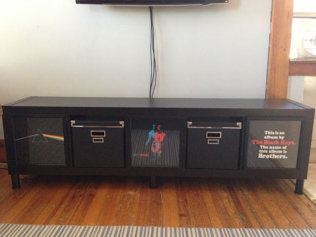 HACKER MATH: Your Favorite Albums + Expedit = TV Stand   PANYL self-adhesive furniture finishes