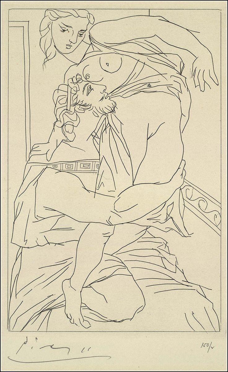 Descubre las ilustraciones de Pablo Picasso para la obra teatral Lisístrata, de Aristófanes, en una edición de tirada limitada de 1934.