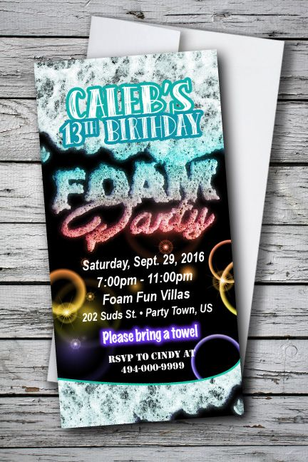 59 best images about GLOW Party Invitations on Pinterest ...
