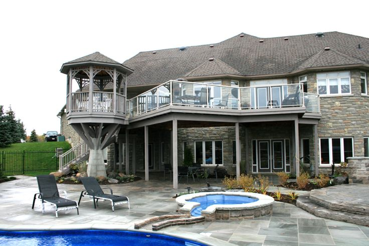 This custom deck and gazebo is a favorite of Hickory Dickory Decks. it was built in 2005 in the Aurora area.