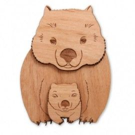 Wombat Brooch - Great Aussie Gift