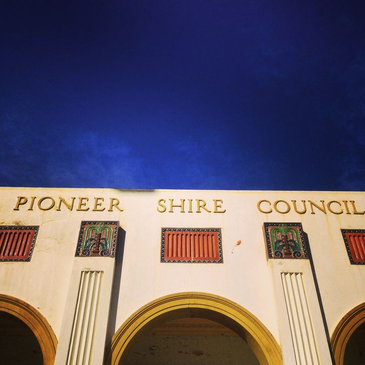 The former Pioneer Shire Council Building in Mackay built in 1935. 3 Wood Street, Mackay. It is currently being restored to it's former glory. #artdeco #queensland #mackay