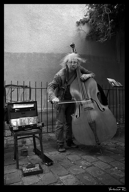 Another street musician, Paris  Gee, I imagine that Paris must be filled with street musicians. Probably not though.