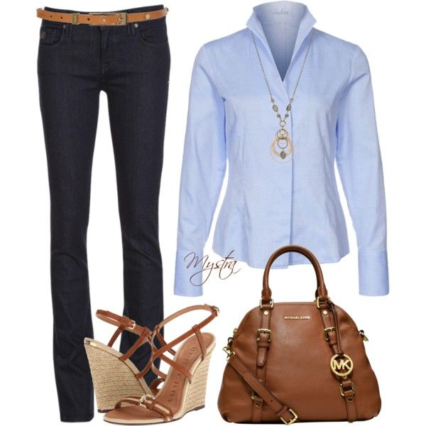 Blue and brown by cafemystra on Polyvore