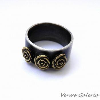 Pierścionek srebrny - W różanym ogrodzie - Sklep internetowy z biżuterią srebrną