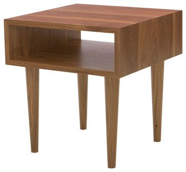 Classic Side Table, Walnut modern side tables and accent tables