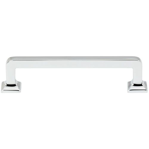 SERVICE AREA - Polished Chrome 4-Inch Pull - Chris likes square-er handles and these would look nice