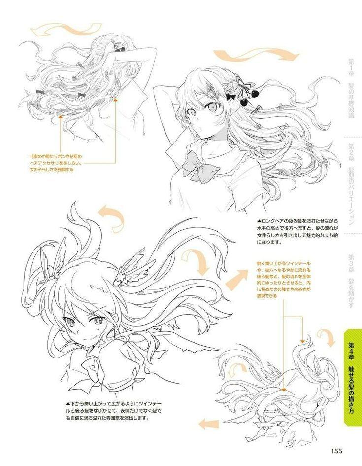Drawing Hair Flowing Drawings In 2020 Anime Drawings Tutorials How To Draw Hair Manga Drawing Tutorials