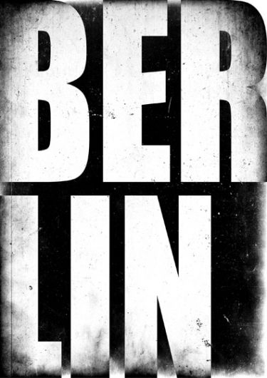 This typography was chosen because it links to my concept of team work. It is a clear bold statement of Berlin. I think the words are clear of the importance of Berlin as a city where teamwork allowed the wall to be broken down.