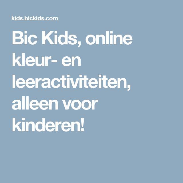 Bic Kids, online kleur- en leeractiviteiten, alleen voor kinderen!