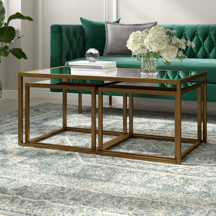 Alvis 3 Piece Coffee Table Set 3 Piece Coffee Table Set