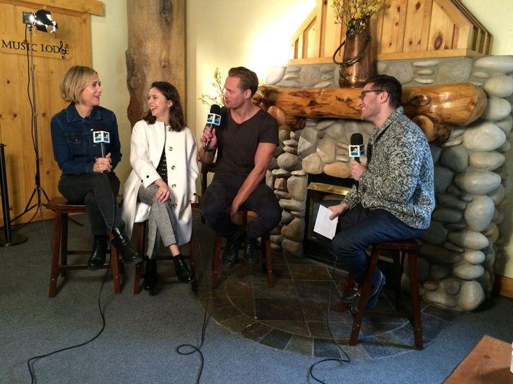 "Alex, Kristen & Bel being interviewed by MTV at Sundance (January 23, 2015): ""Our #Sundance interviews have kicked off with Alexander Skarsgård, Bel Powley and Kristen Wiig!"" -mtvmovies..."