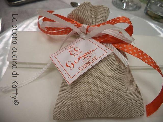 La buona cucina di Katty: Centrotavola di colore arancio e bomboniere per un compleanno speciale - Centerpiece of orange and favors for a special birthday