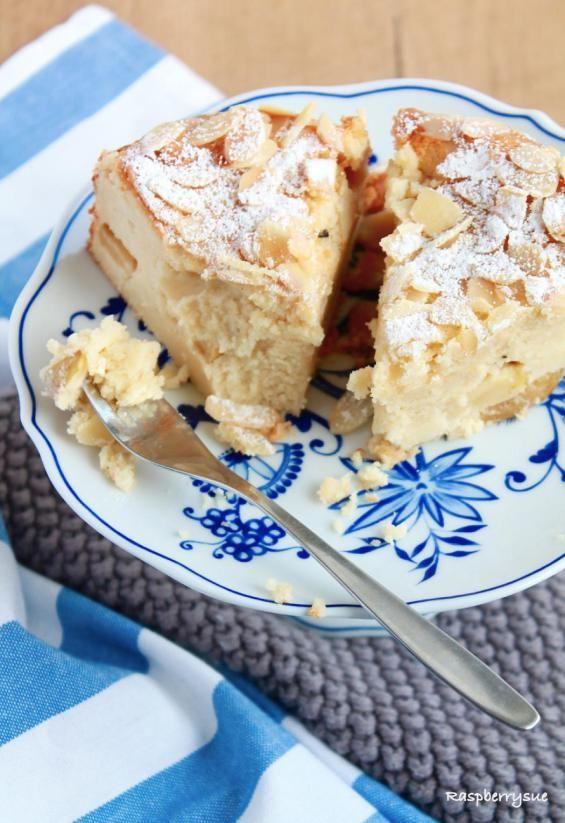 Herbstlicher Apfel-Mandel-Kuchen mit Quark