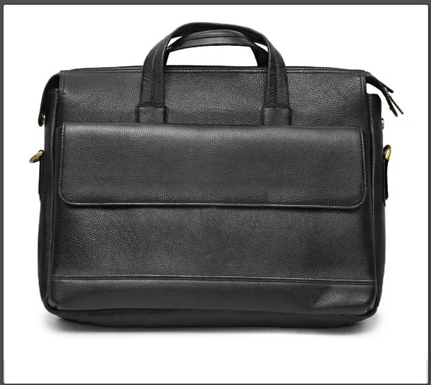 Match it with other leather accessories for your office look! #LeatherLaptopBags