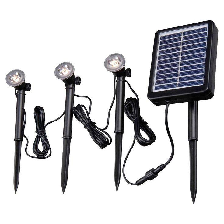 kenroy home solar deck dock and path light 3 light string black - Landscape Lighting Kits