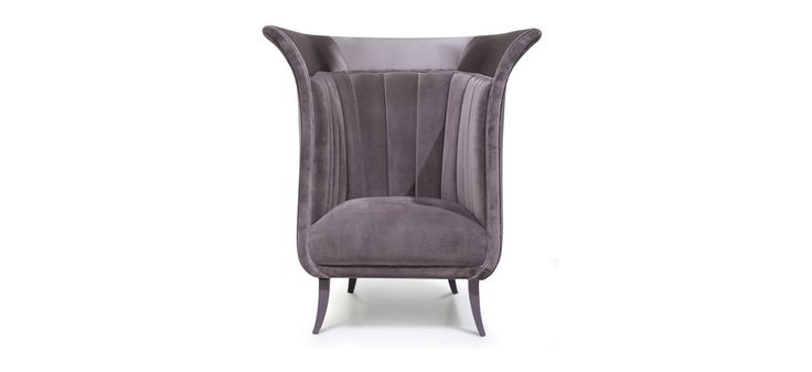 This modern chair counts with an upholstery fabric and a base in cast brass and oxidize gold plated. Anastasia has a modern design with great comfort. This luxury chair brings elegance to your master bedroom interior   Discover more bedroom chairs ideas: http://masterbedroomideas.eu
