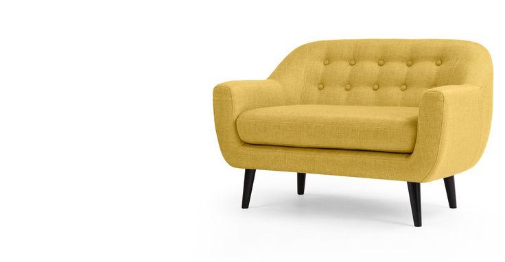 Mini Ritchie, canapé 2 places, jaune ocre