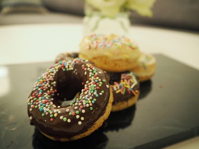 Healthier oven baked donuts