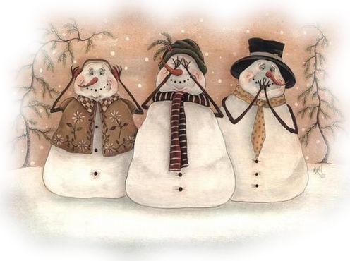 *Snow men are favorites