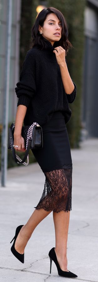 Black Lace hem.                                                                                                                                                                                 More