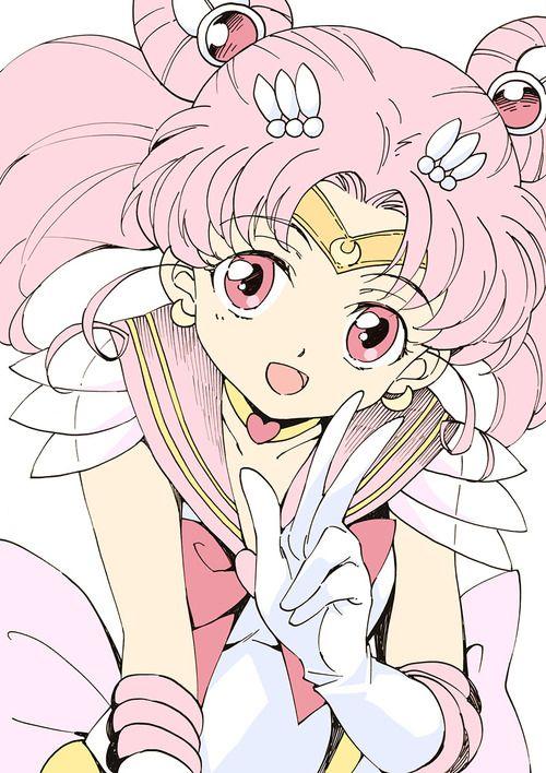 ちびうさ / セーラーちびムーン Chibiusa / Sailor Chibi Moon - by アガハリ - Sailor Moon fan art