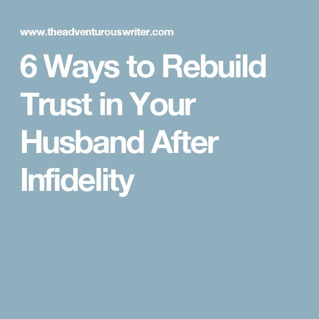 ways to rebuild trust