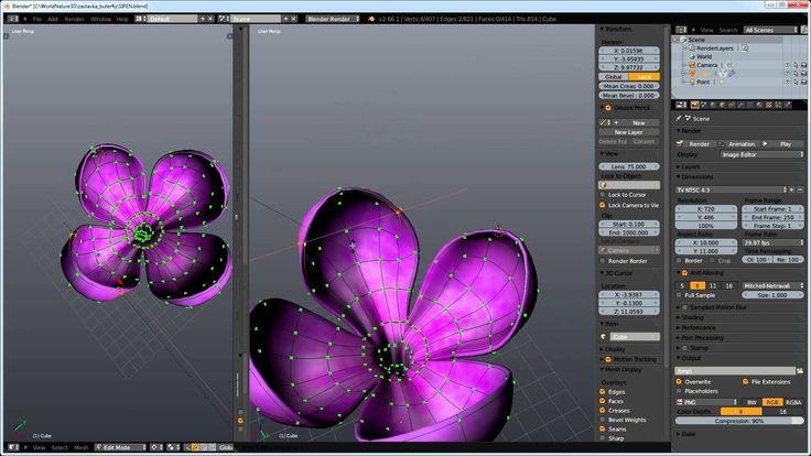 Modeling and Texturing Flower in Blender