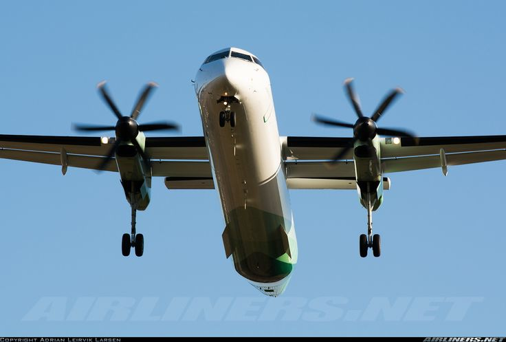Wideroe De Havilland Canada DHC-8-402Q Dash 8  Kristiansand - Kjevik (KRS / ENCN) Norway, March 13, 2014